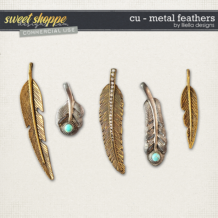 CU - Metal Feathers by lliella designs