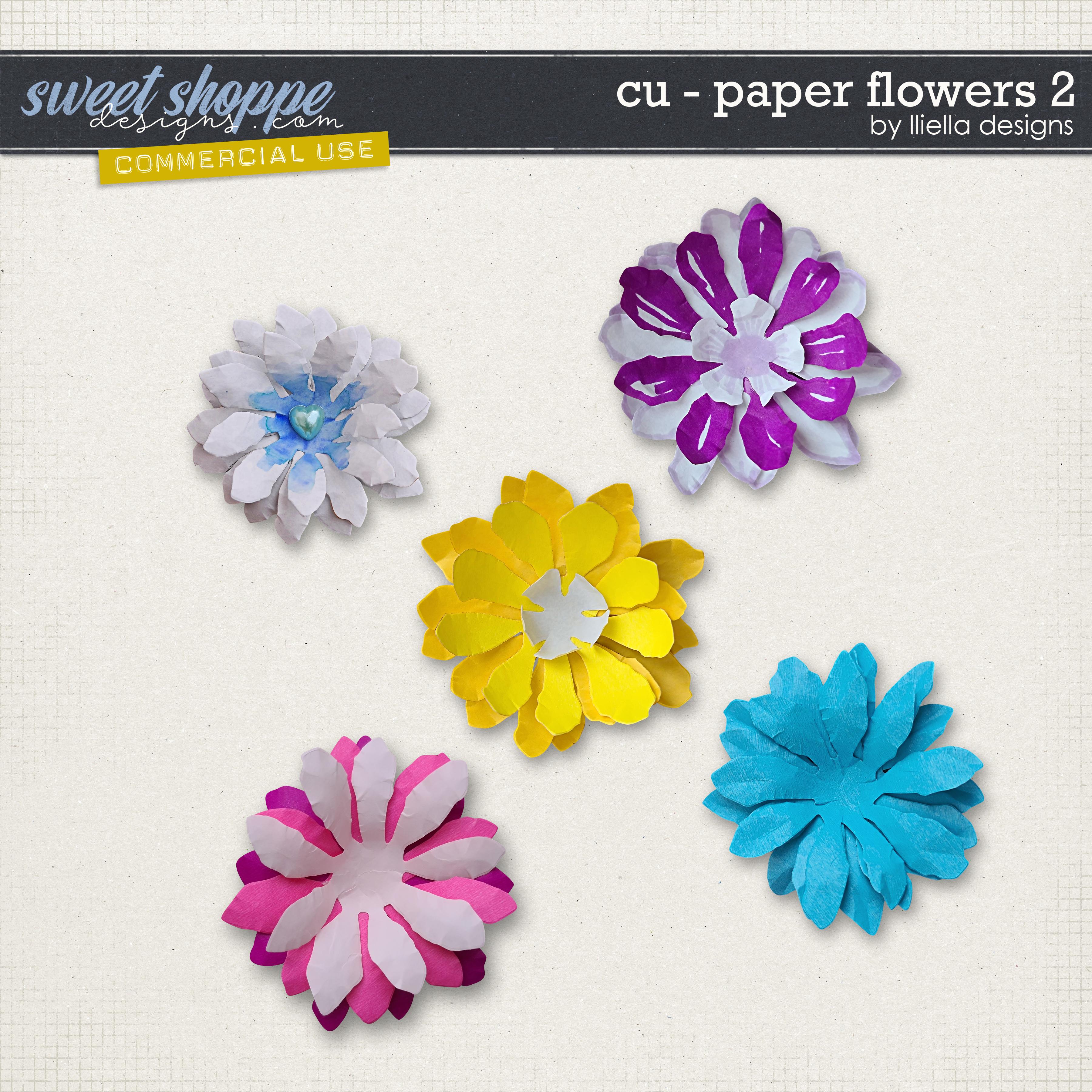 CU - Paper Flowers 2 by lliella designs