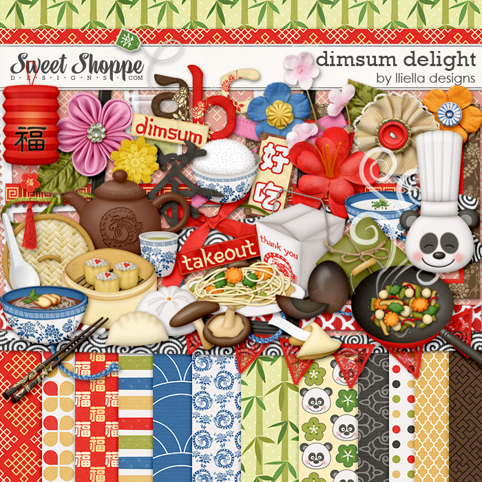 Dimsum Delight digital scrapbooking kit by Iliella designs