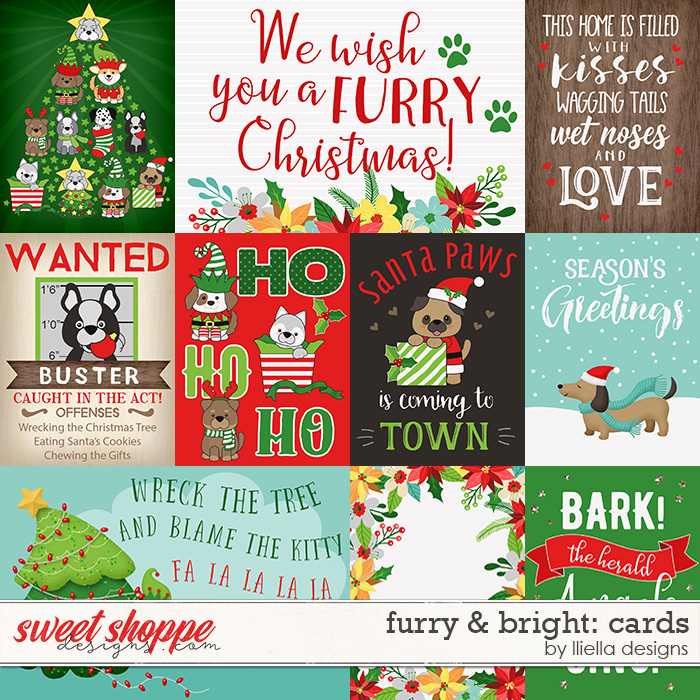 Furry & Bright Cards by lliella designs