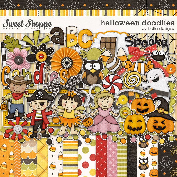 Halloween Doodlies by lliella designs