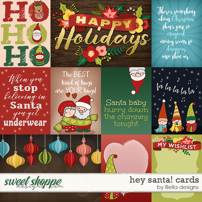Hey Santa! Cards by lliella designs