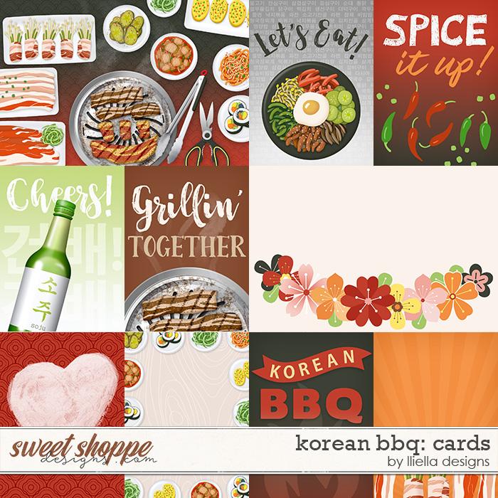 Korean BBQ Cards by lliella designs