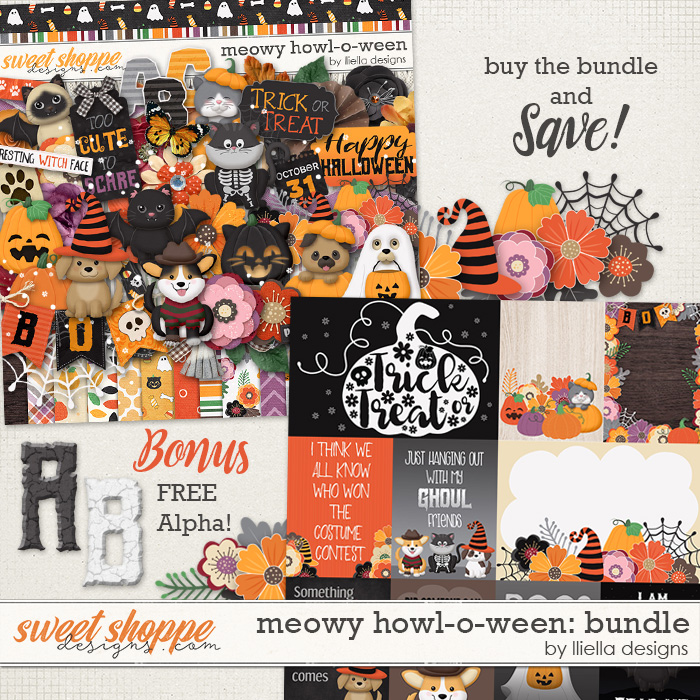 Meowy Howl-o-ween Bundle by lliella designs