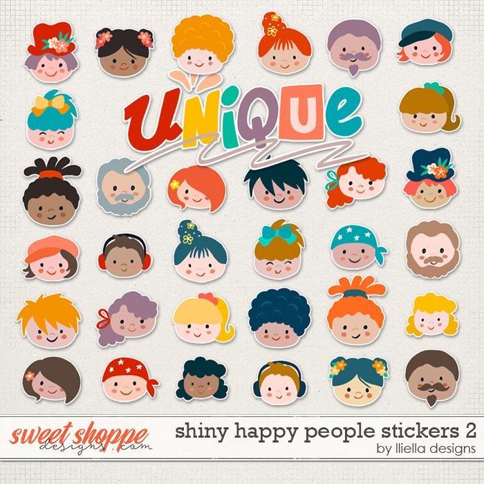 Shiny Happy People Stickers 2 by lliella designs