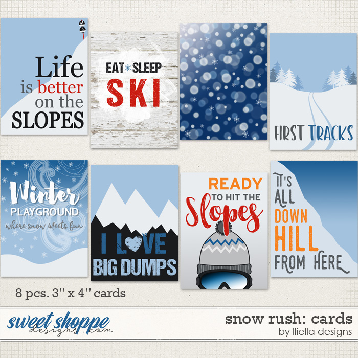 Snow Rush: Cards by lliella designs