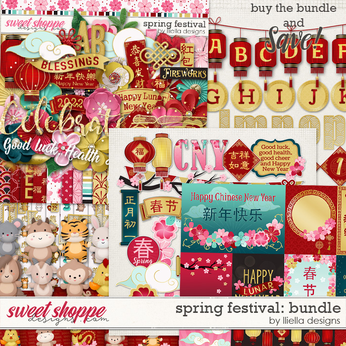 Spring Festival Bundle by lliella designs