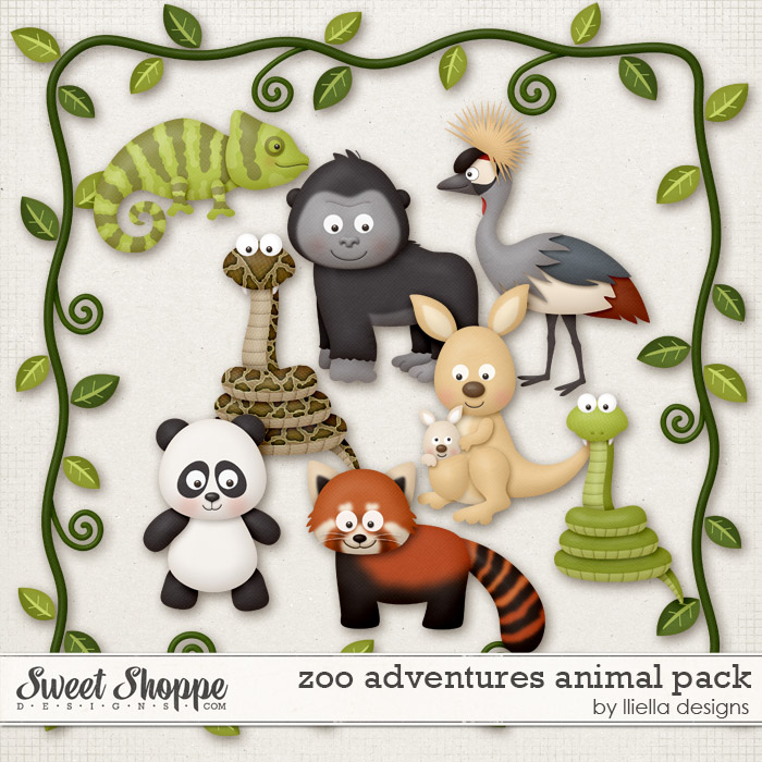 Zoo Adventures Animal Pack by lliella designs