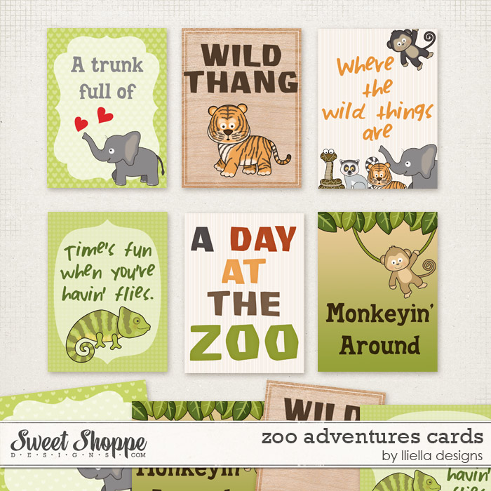 Zoo Adventures Cards by lliella designs