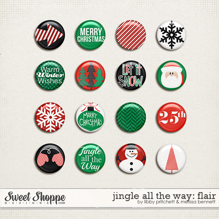 Jingle All The Way Flair by Libby Pritchett & Melissa Bennett