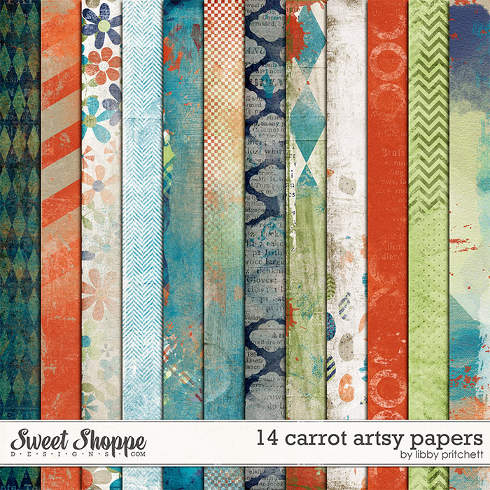 14 Carrot Artsy Papers by Libby Pritchett