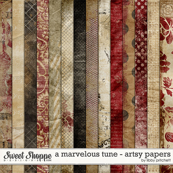 A Marvelous Tune Artsy Papers by Libby Pritchett
