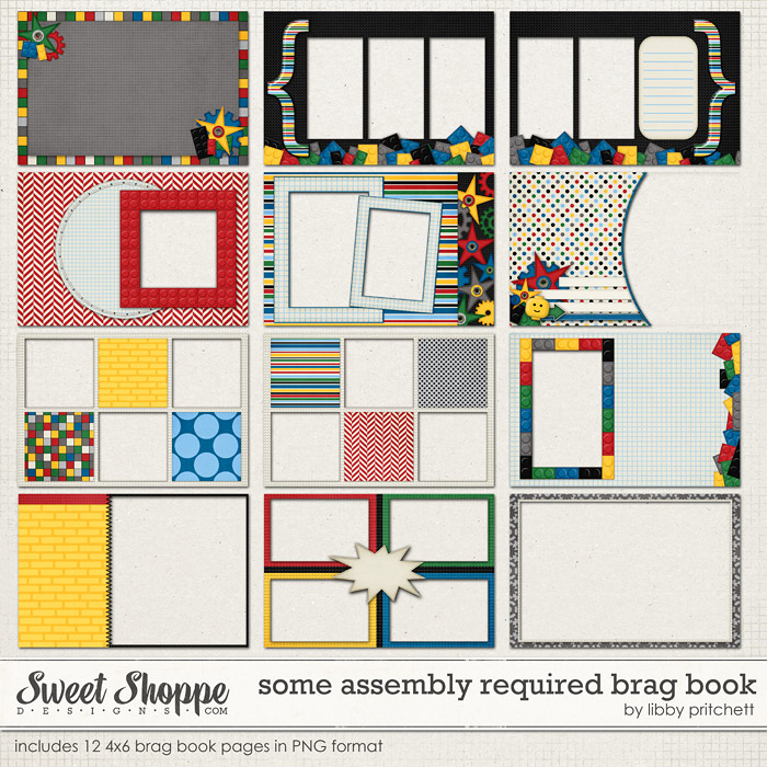 Some Assembly Required 4x6 Brag Book by Libby Pritchett