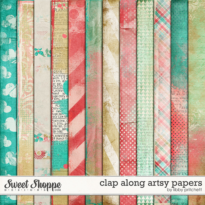 Clap Along Artsy Papers by Libby Pritchett