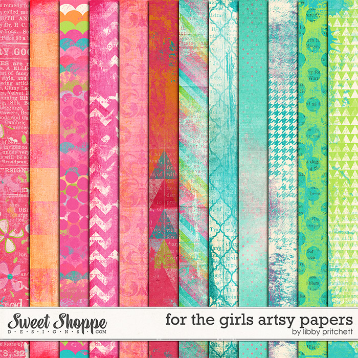 For The Girls Artsy Papers by Libby Pritchett