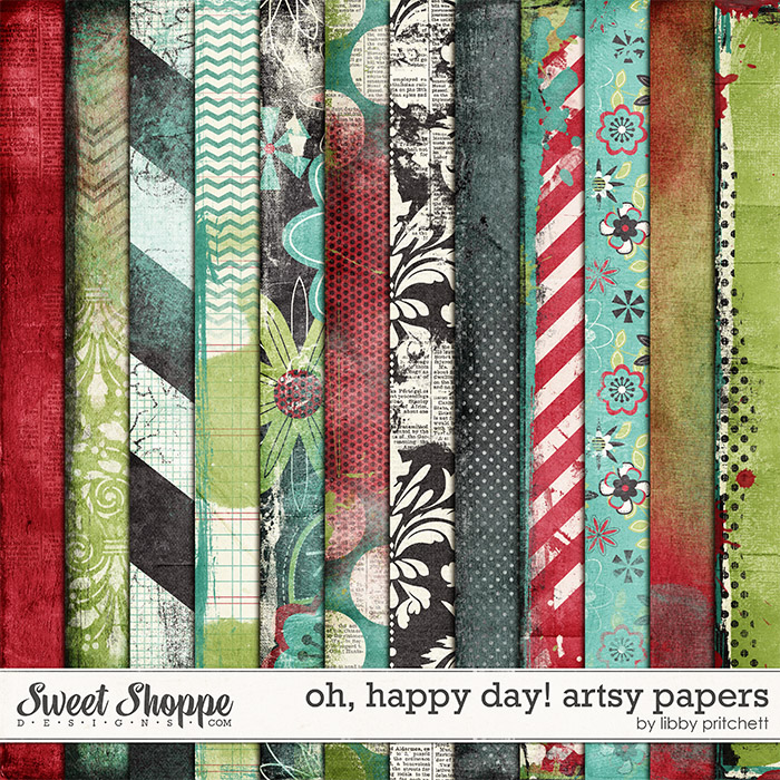Oh, Happy Day! Artsy Papers by Libby Pritchett