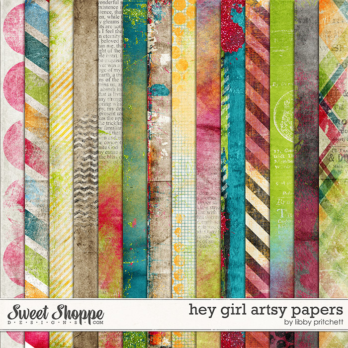 Hey Girl Artsy Papers by Libby Pritchett