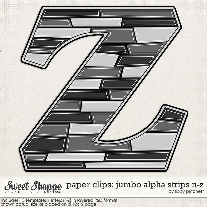 Paper Clips - Jumbo Alpha Strips N-Z by Libby Pritchett