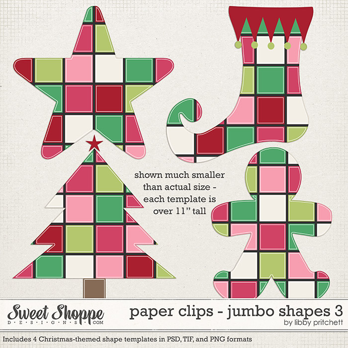 Paper Clips - Jumbo Shapes 3 by Libby Pritchett