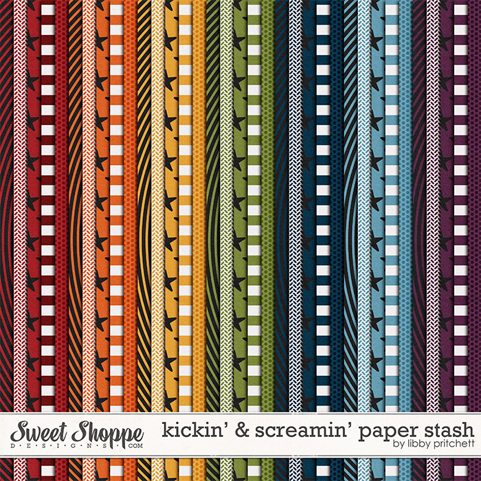 Kickin' & Screamin' Paper Stash by Libby Pritchett