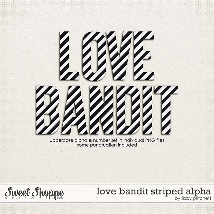 Love Bandit Striped Alpha by Libby Pritchett