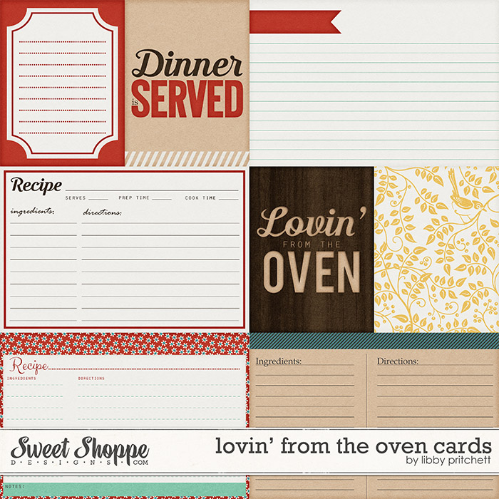Lovin' From The Oven Cards by Libby Pritchett