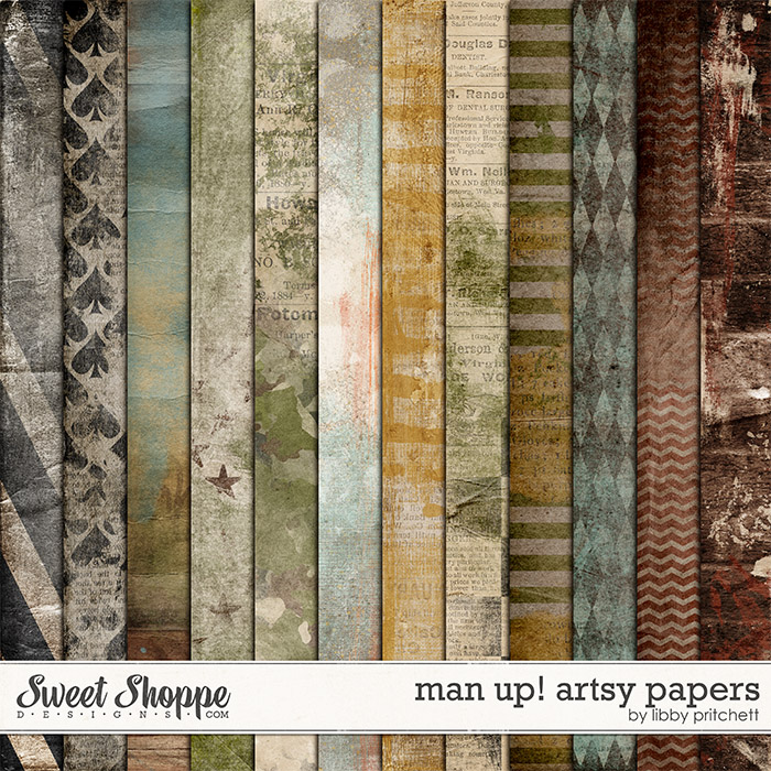 Man Up! Artsy Papers by Libby Pritchett