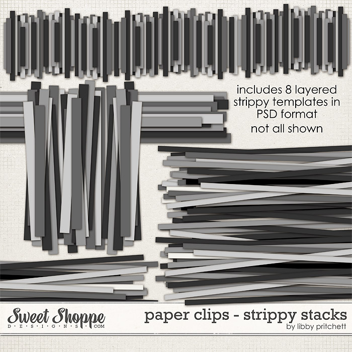 Paper Clips: Strippy Stacks Templates by Libby Pritchett