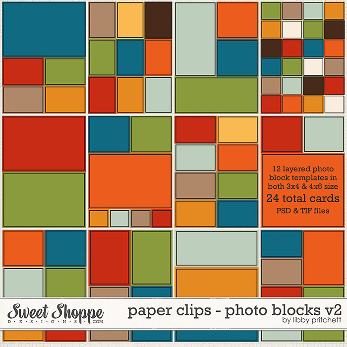 Paper Clips - Photo Blocks v2 by Libby Pritchett