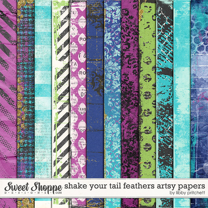 Shake Your Tail Feathers Artsy Papers by Libby Pritchett