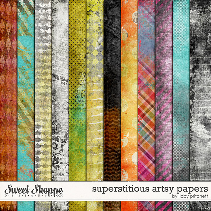 Superstitious Artsy Papers by Libby Pritchett