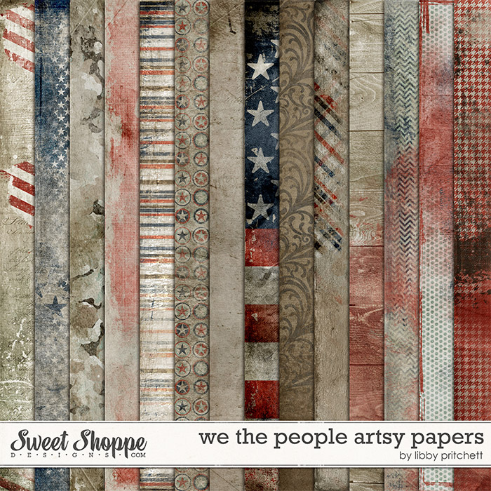 We The People Artsy Papers by Libby Pritchett