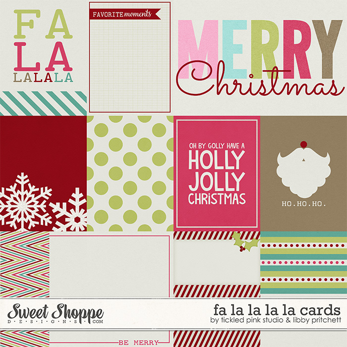 Fa La La La La Cards by Libby Pritchett & Tickled Pink Studio