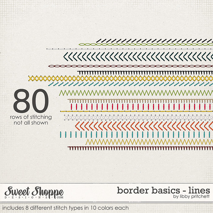 Border Basics: Line Stitches by Libby Pritchett