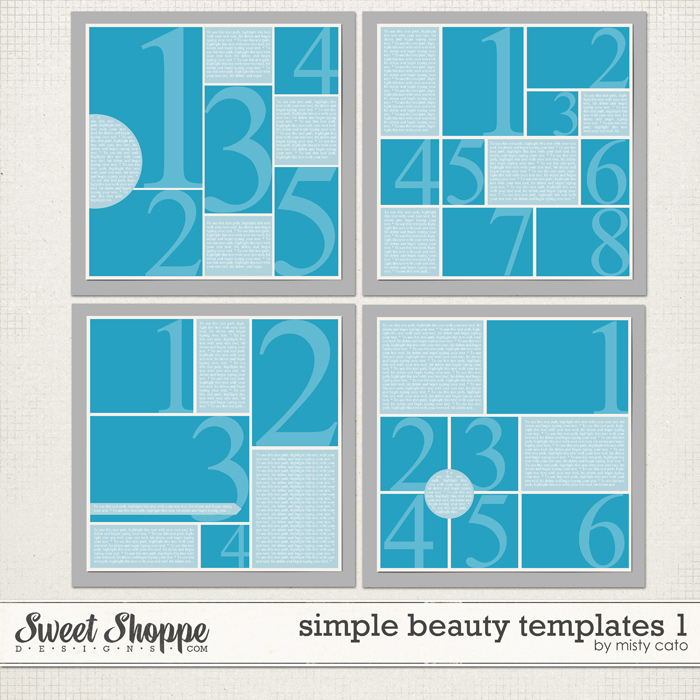Simple Beauty Templates 1 by Misty Cato