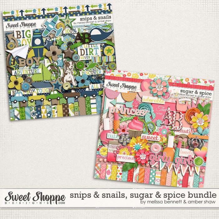 Snips & Snails, Sugar & Spice Bundle by Melissa Bennett & Amber Shaw