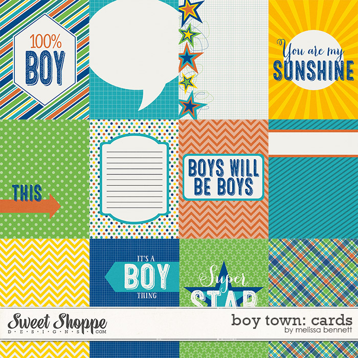Boy Town Cards by Melissa Bennett