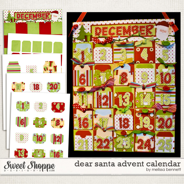 Dear Santa Advent Calendar by Melissa Bennett