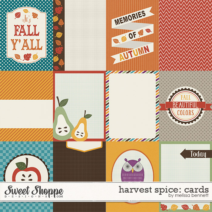 Harvest Spice Cards by Melissa Bennett