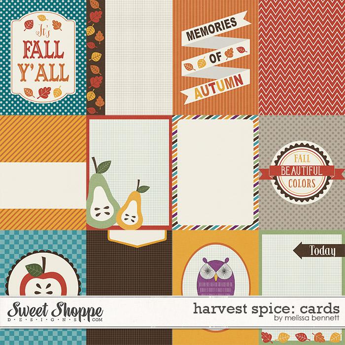 Harvest Spice Cards by Melissa Bennett