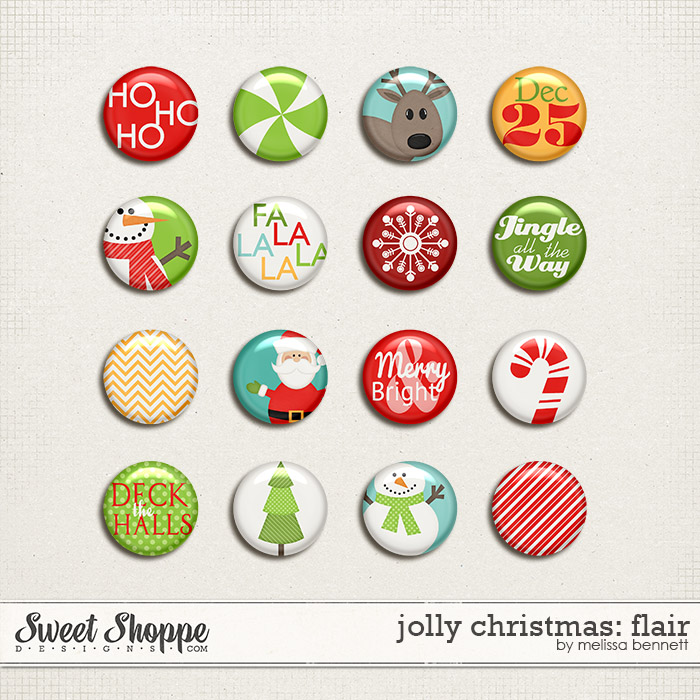 Jolly Christmas Flair by Melissa Bennett