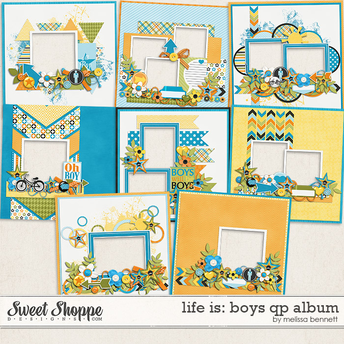 Life is: Boys QP Album by Melissa Bennett