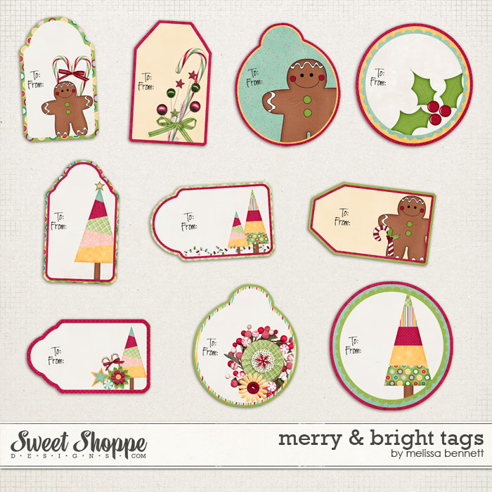 Merry & Bright Tags by Melissa Bennett