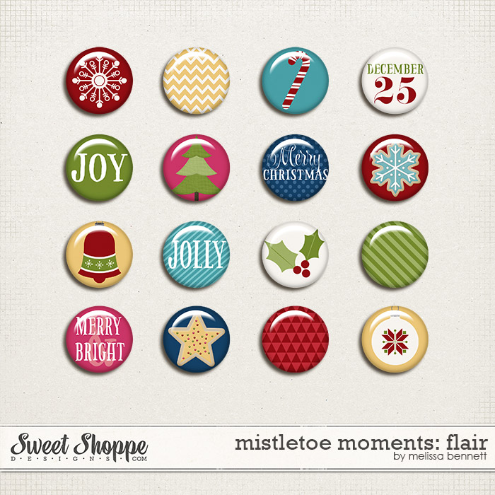 Mistletoe Moments Flair by Melissa Bennett