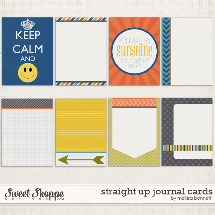 Straight Up Journal Cards by Melissa Bennett