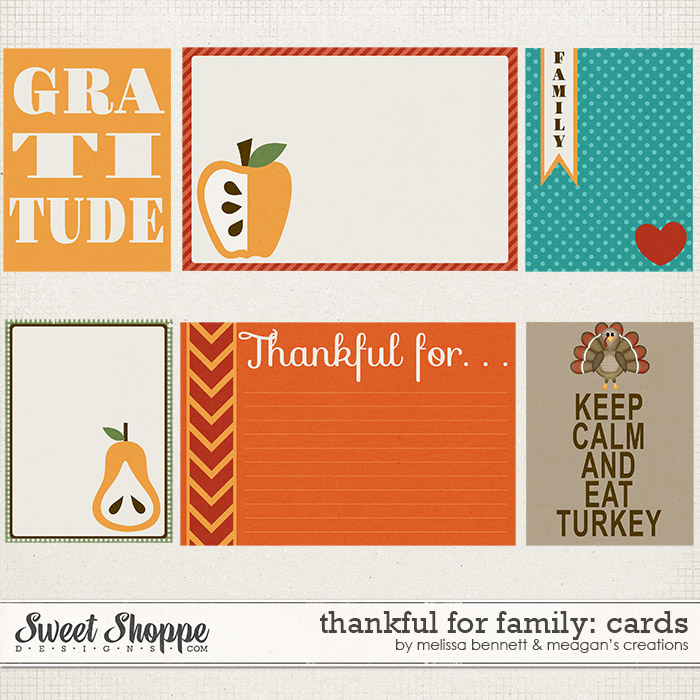 Thankful For Family Cards by Melissa Bennett
