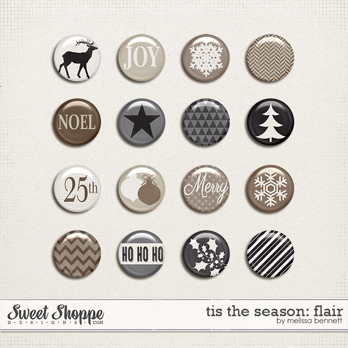 Tis The Season Flair by Melissa Bennett