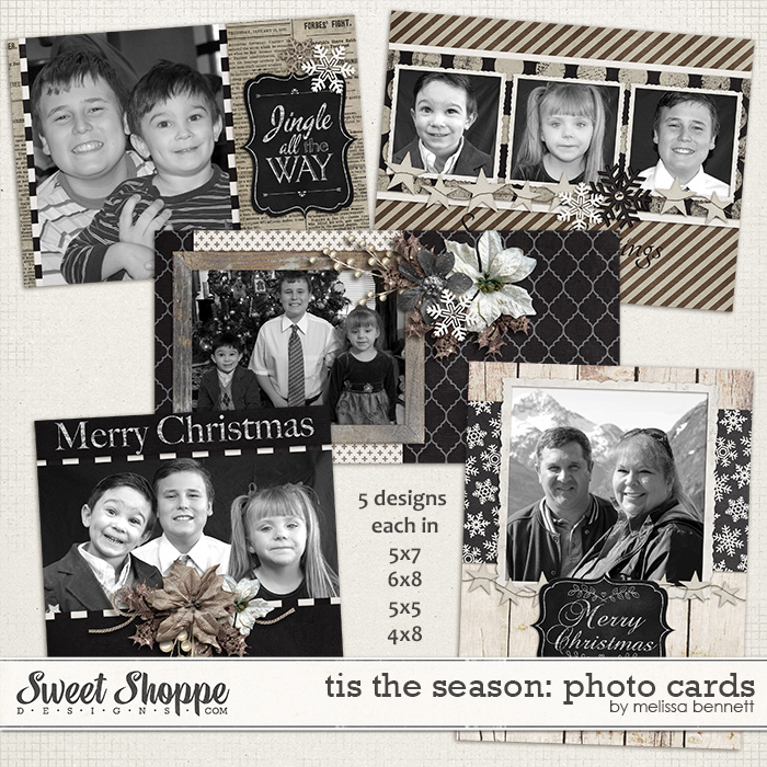 Tis The Season Photo Cards by Melissa Bennett