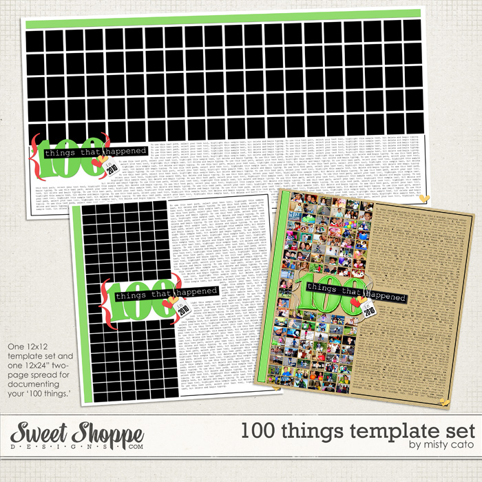 100 Things Template Set by Misty Cato