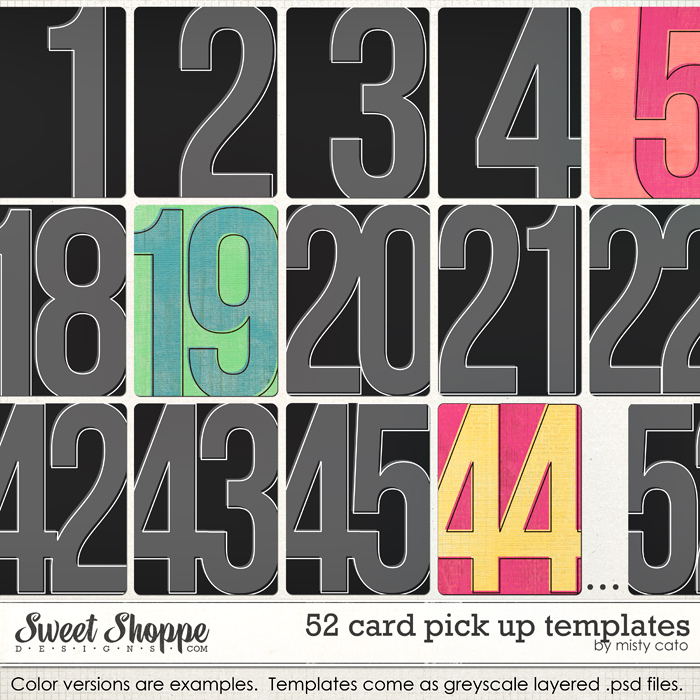 52 Card Pick Up Templates by Misty Cato